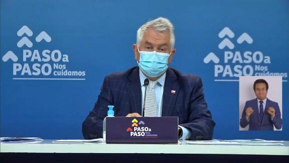 Ministro Paris entregó nuevo informe del coronavirus en Chile.