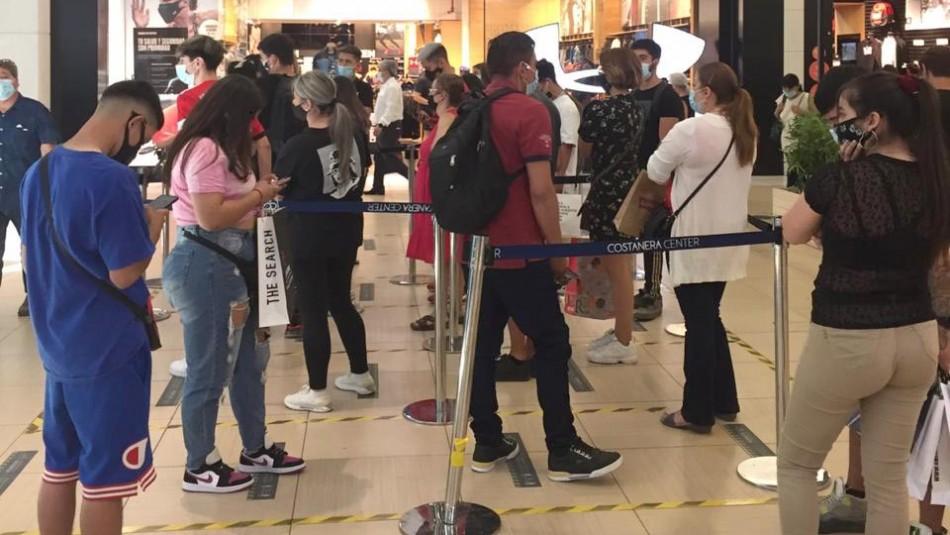 Aforo de tiendas de malls están al límite por compras navideñas ante cuarentena de fin de semana