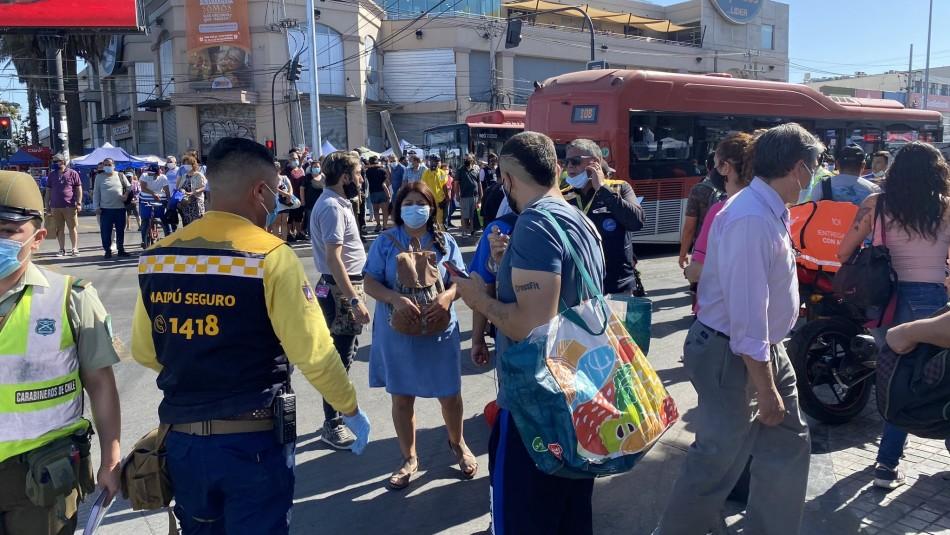 Balacera en Plaza de Maipú: Muere mujer de 59 años y hay varios heridos