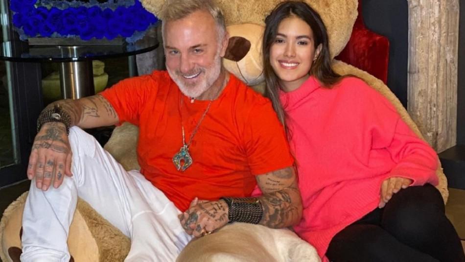 La primera foto del rostro de la hija de Gianluca Vacchi y Sharon Fonseca: así es Blu Jerusalema