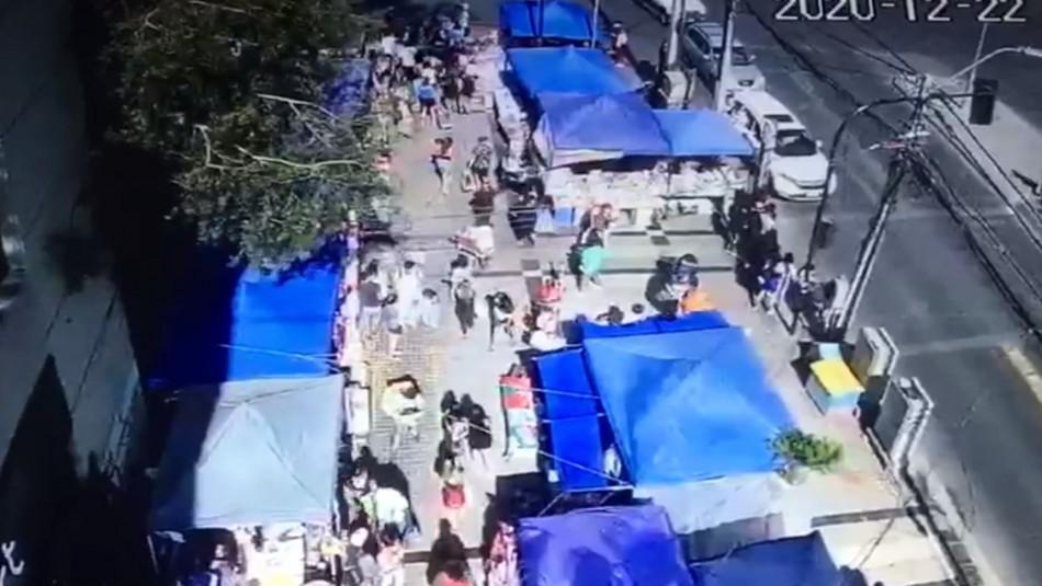Videos captan momento exacto del inicio de la balacera en Maipú