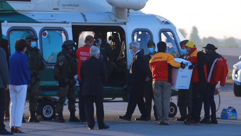 Piñera tras llegada a Chile de vacuna contra el coronavirus: