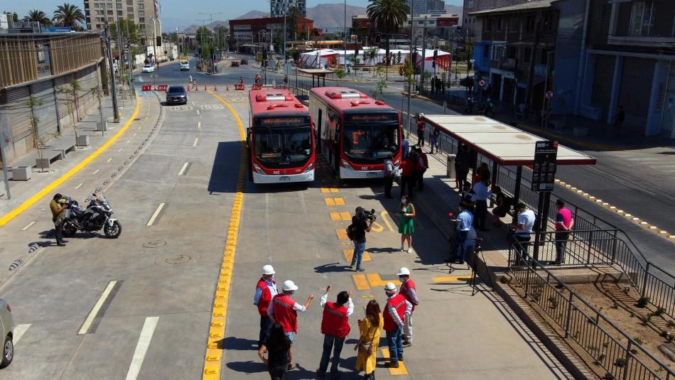 Luego de cuatro años de trabajos comenzó a funcionar el corredor de buses en Independencia