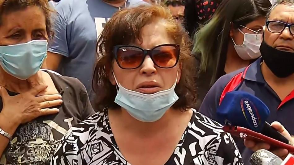 Madre de María Isabel Pavez en velorio de su hija: