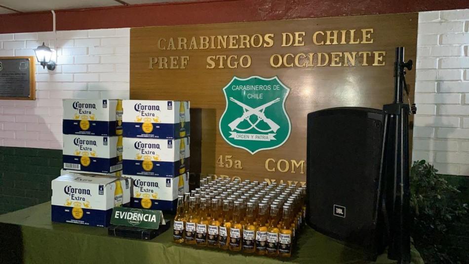 30 detenidos en fiesta clandestina con cámaras de seguridad para alertar fiscalizaciones