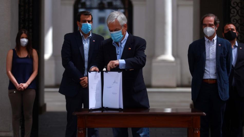 Agentes encubiertos e infiltración: Piñera firma proyecto para combatir el crimen organizado