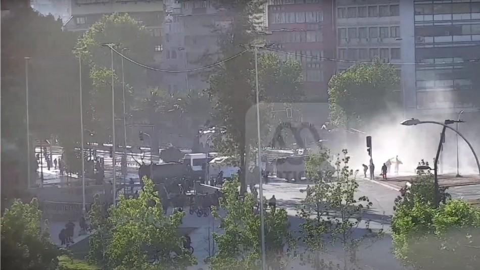 Incidentes provocan cortes de tránsito en sector de Plaza Italia