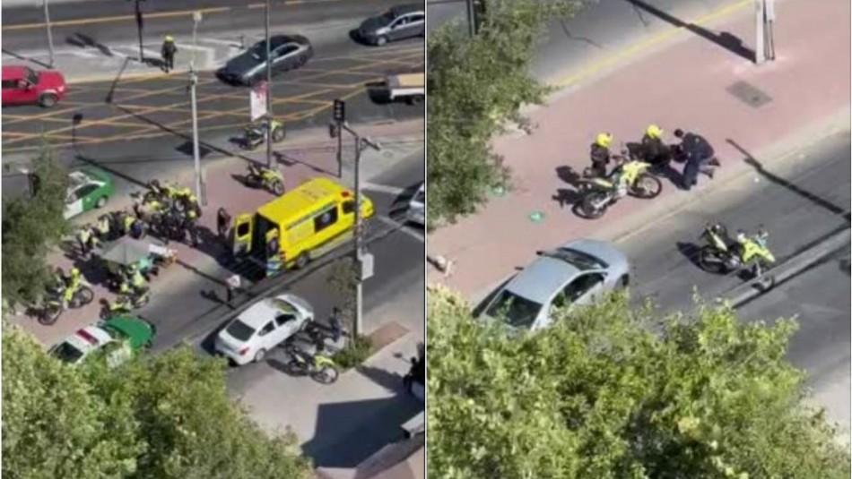 Guardia resulta herido a bala en Vitacura tras intentar frustrar robo