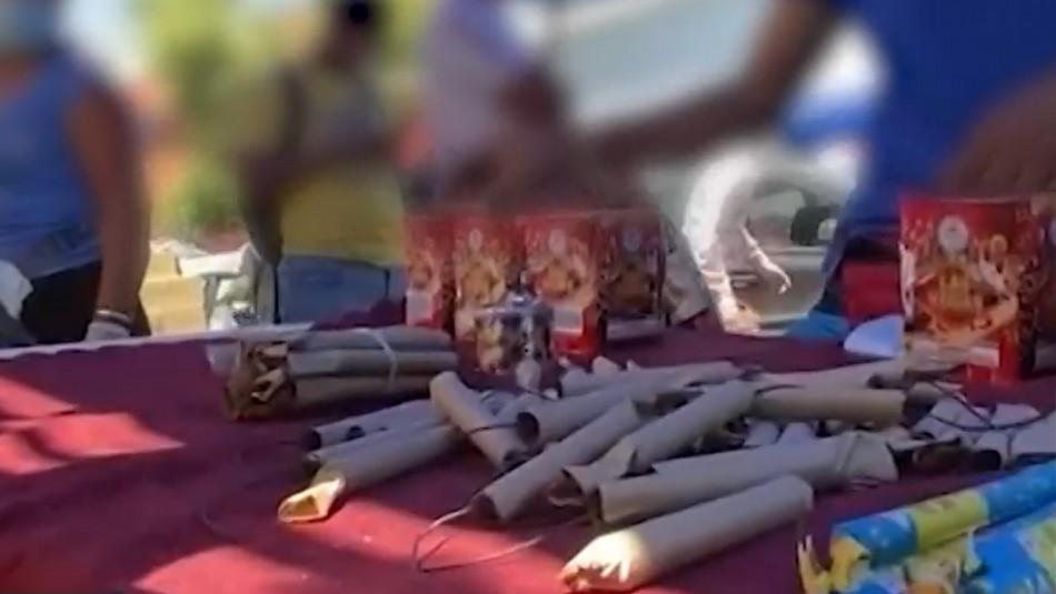 Tierra de nadie: Descontrolada venta de fuegos artificiales en Barrio Meiggs