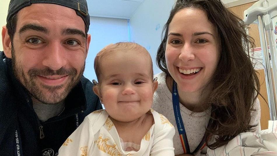 La dolorosa despedida de periodista a su hija de 9 meses que murió por extraño cáncer