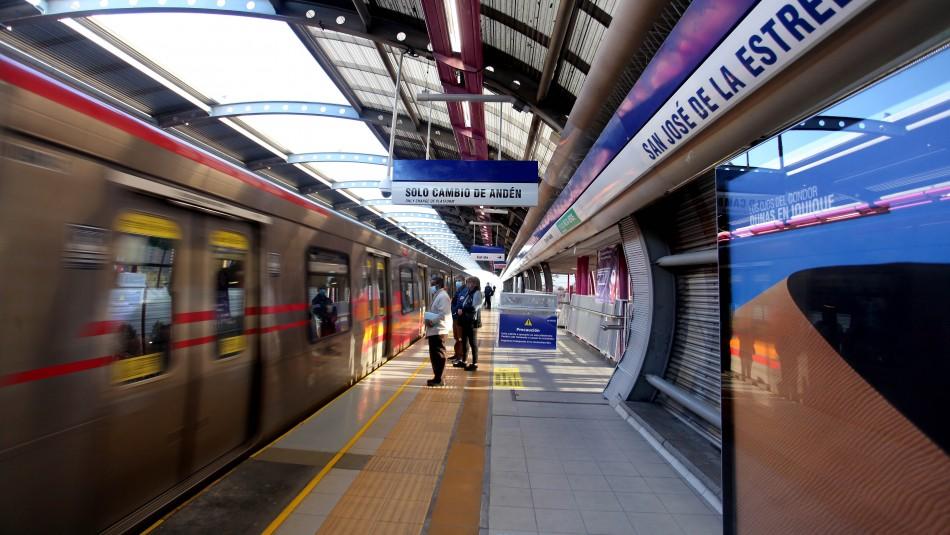 Metro de Santiago cerrará sus estaciones a las 21:00 horas desde el 04 de enero