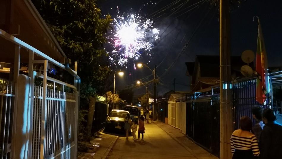 Año Nuevo: Denuncian lanzamiento de fuegos artificiales en diferentes ciudades del país