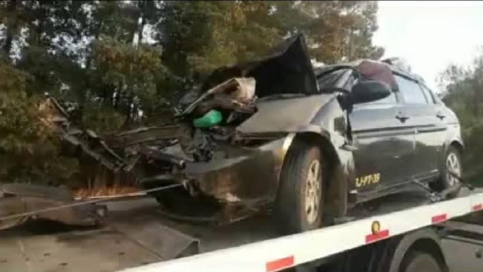 Un fallecido y tres lesionados deja accidente en Ruta 5 Sur en Chillán