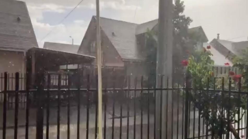 Inusual fenómeno en Ñuble: El mismo día se registra tormenta eléctrica, granizos y 33 grados