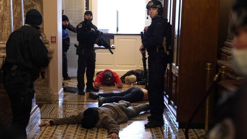 Mujer termina herida a bala en el Capitolio.