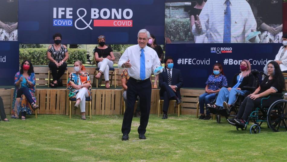 Piñera anuncia 3 nuevos bonos IFE para familias afectadas por la pandemia