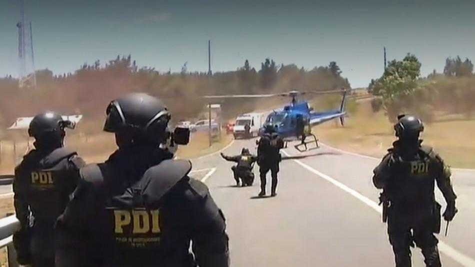 Funcionario de la PDI fue baleado en Ercilla.