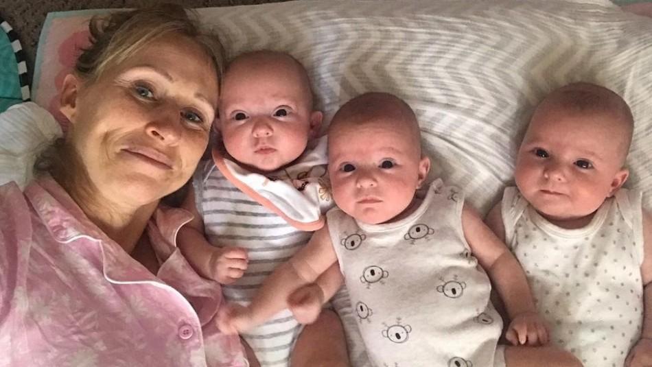 Gasta 100 mil dólares para quedar embarazada a los 44 años: En el último intento tuvo trillizas