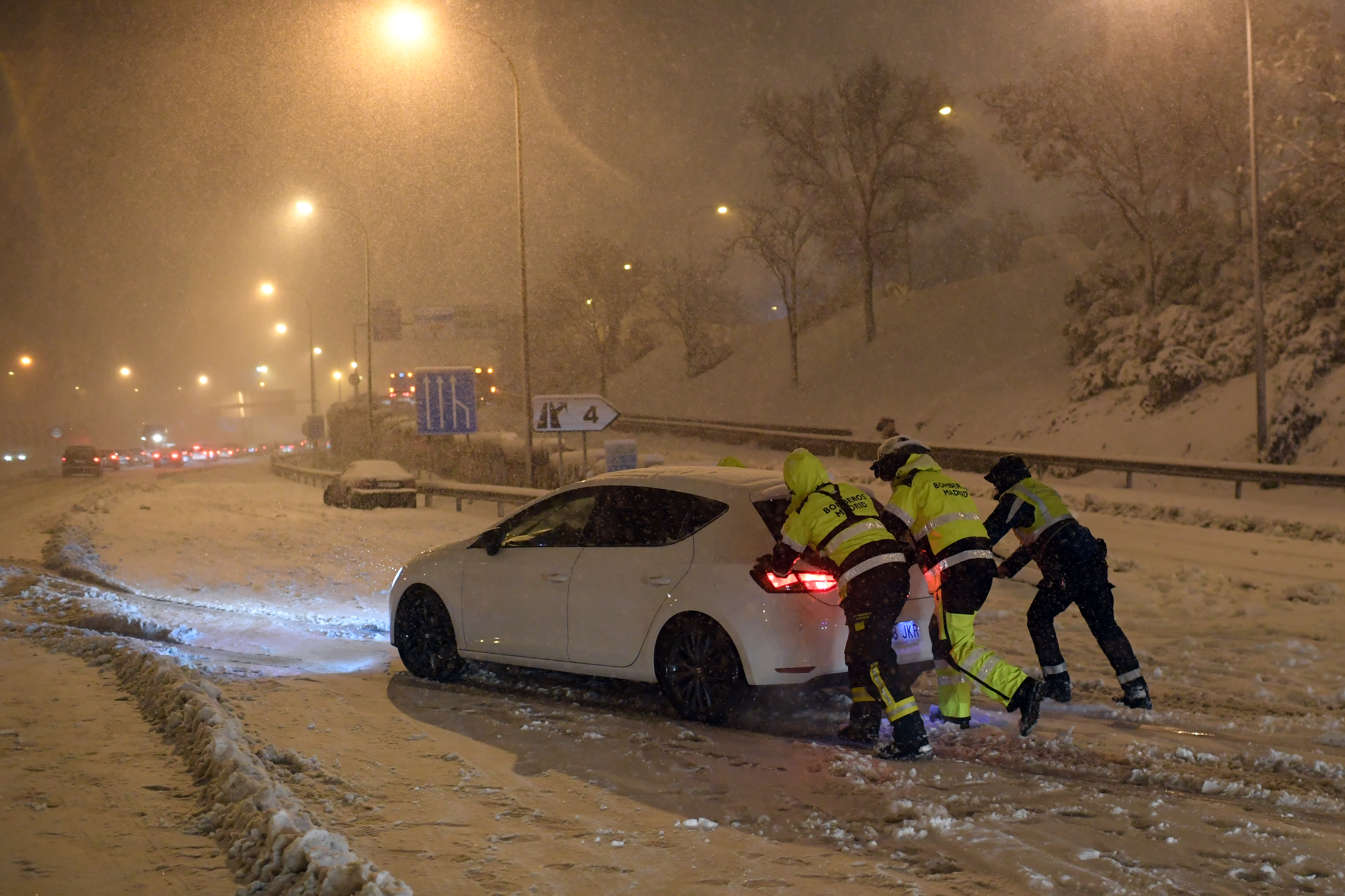 Tormenta de nieve en España