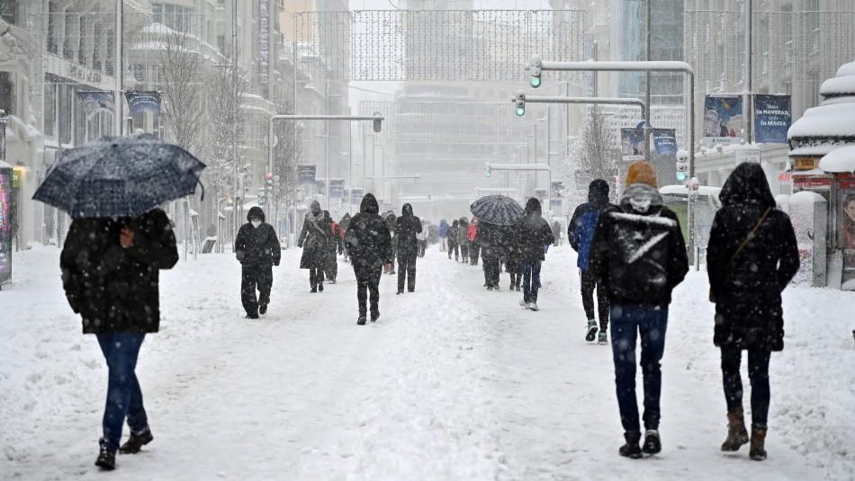 Tormenta de nieve azota fuertemente a España y deja al menos tres muertos