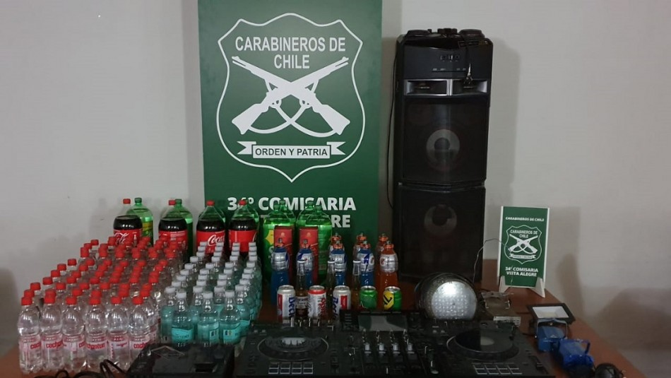 Detienen a 23 personas que participaban de fiesta clandestina en Cerrillos