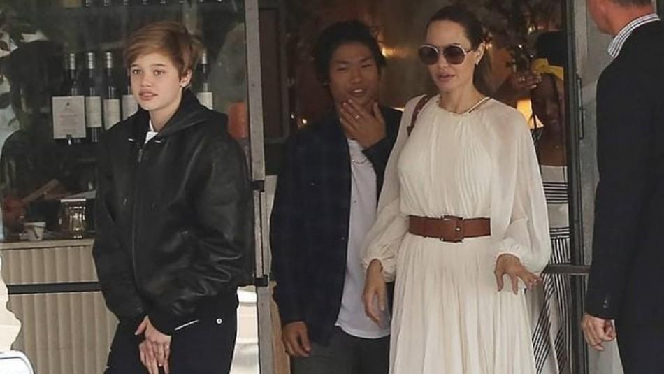 El elegante look de Angelina Jolie para ir de compras con Shiloh y Zahara en fotos y video