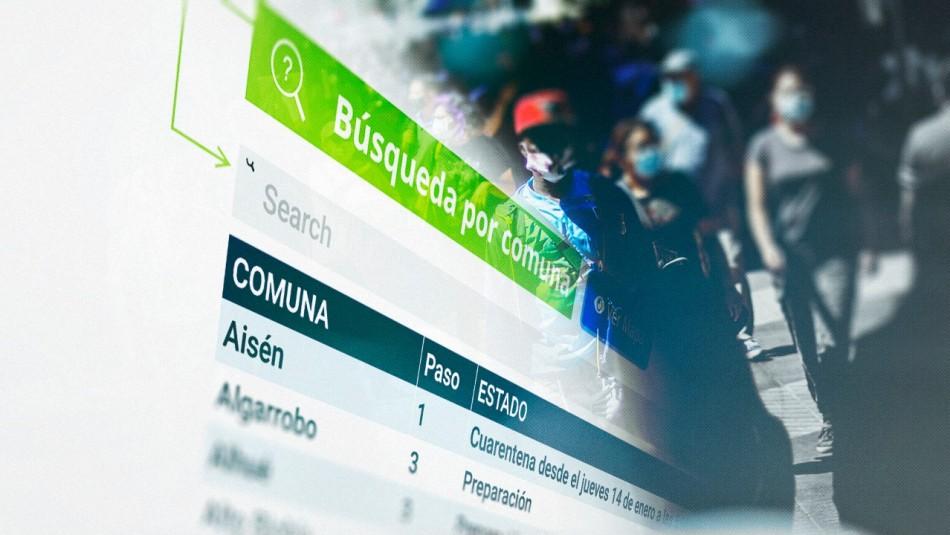 Cuarentenas: Revisa en qué fase del Plan Paso a Paso se encuentra tu comuna