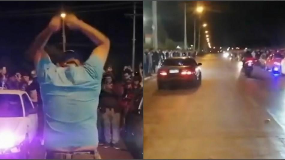 Adrenalina ilegal en Maipú: Pilotos protagonizan masivas carreras clandestinas