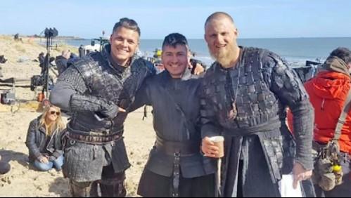 Chileno participó como extra en la exitosa serie Vikingos: