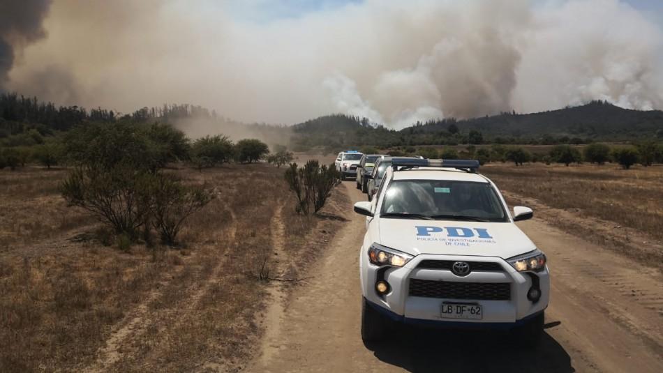Detienen a sujeto por incendio en pastizal en la comuna de Casablanca