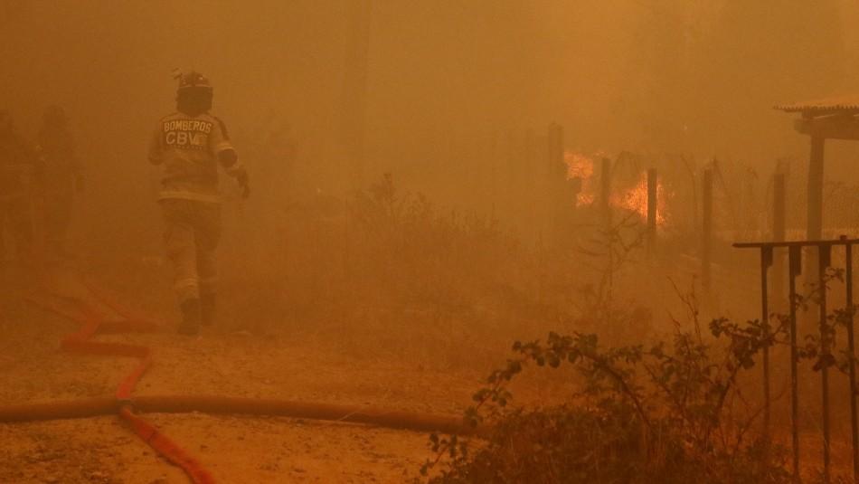 Balance Onemi por incendios en la Región de Valparaíso: 10 damnificados 7 viviendas destruidas