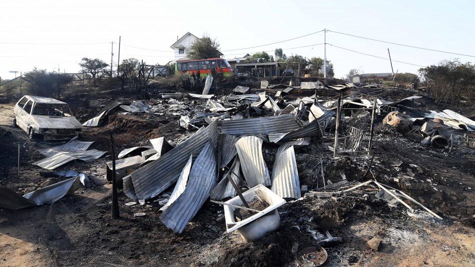 Incendios en Región de Valparaíso: El drama de la mujer que perdió su casa y un auto