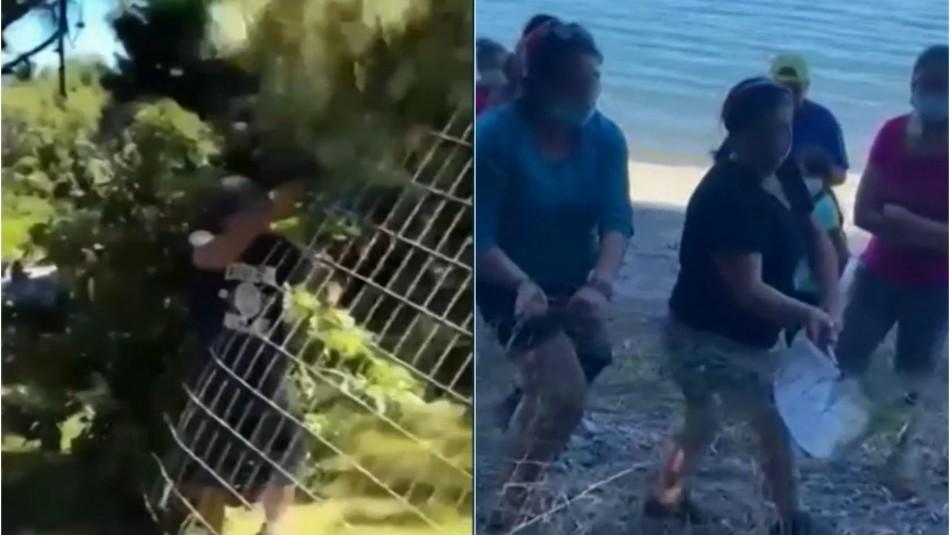 Polémica en lago Colico: Familia denunciará a quienes destruyeron los cercos de su vivienda