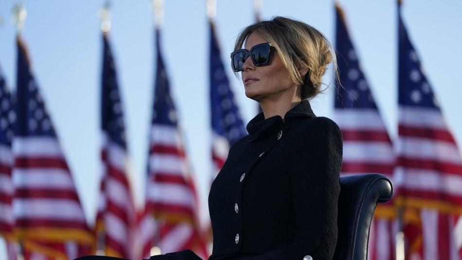 Llegó tarde y se fue temprano: Así fue la salida de Melania Trump de la Casa Blanca