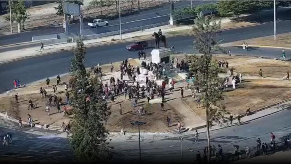 Incidentes en Plaza Italia y la Alameda generan cortes de tránsito y cierre de estaciones