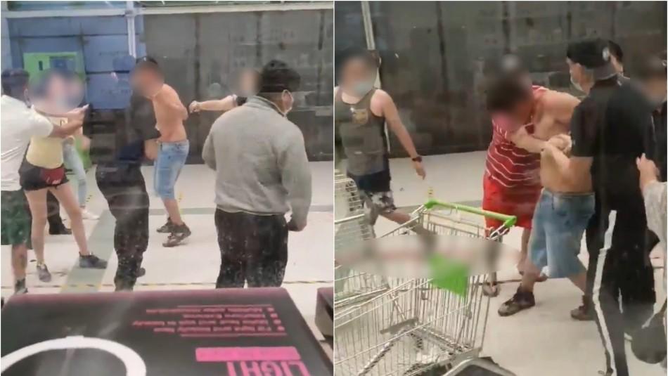 Violento ataque en Colina: Menor de edad apuñala a dos guardias de seguridad en supermercado
