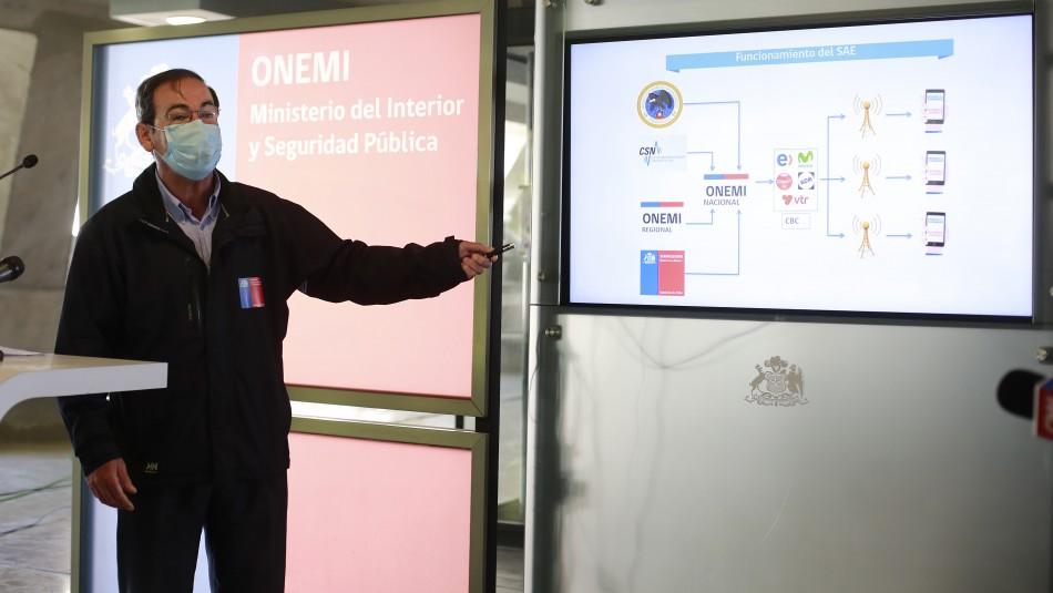 Contraloría anuncia que solicitará informe a Onemi por error en envío de mensaje de emergencia
