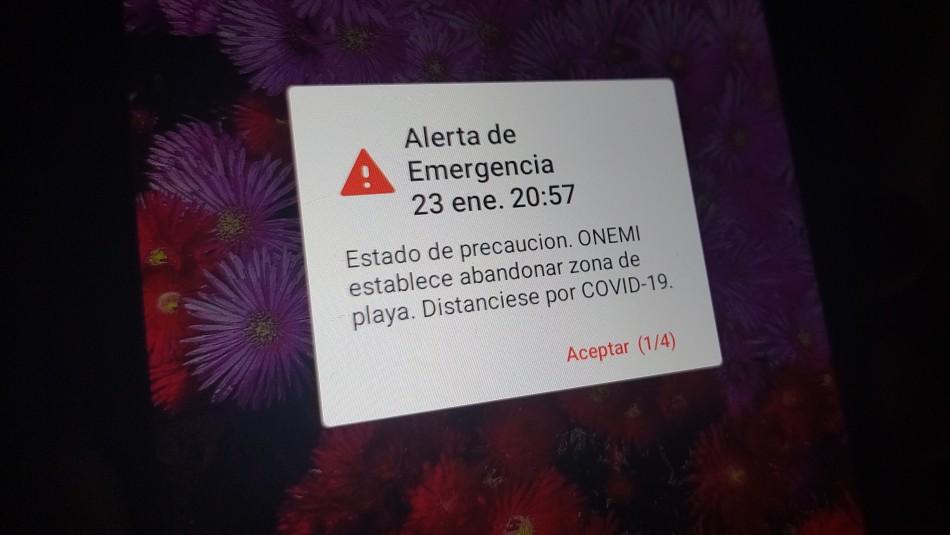 Error en alerta: Onemi probará mensaje en Alto Hospicio y Antártica para revisar sistema