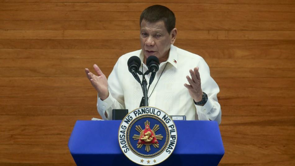 Presidente filipino a niños confinados: