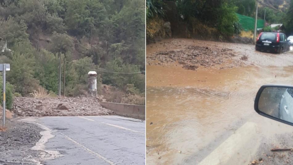 Decretan Alerta Roja para la comuna de San José de Maipo por aluviones