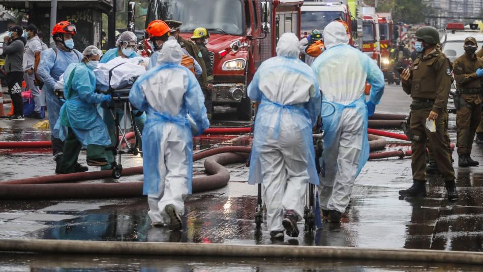 Así fue la evacuación y traslado de los pacientes tras incendio en Hospital San Borja
