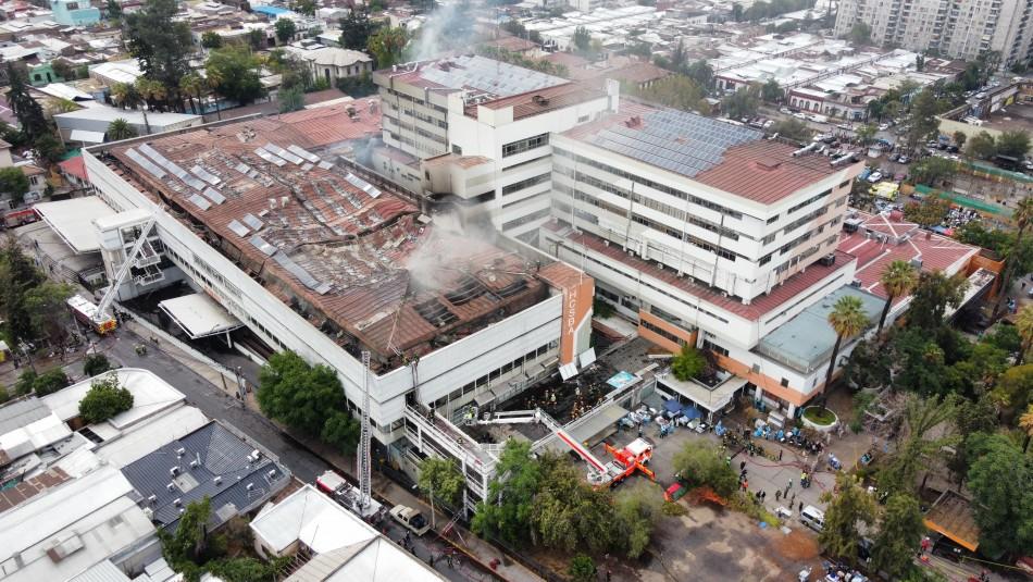 Incendio en Hospital San Borja: Bomberos informa que