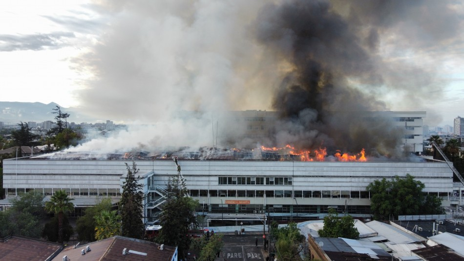 Incendio Hospital San Borja Arriarán