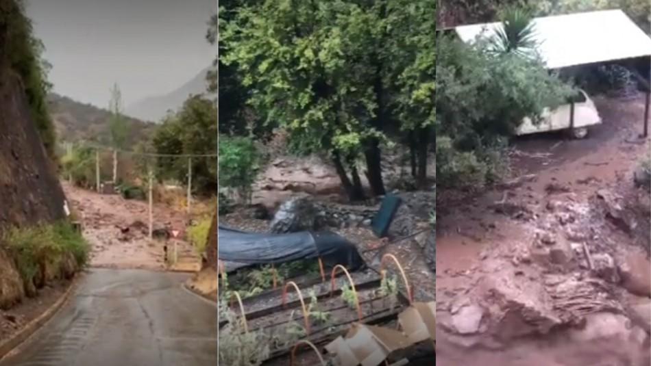 Videos registran aludes que causan severos daños en camino a Farellones
