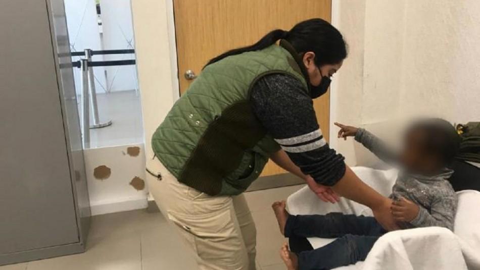 Menor chilena de 2 años rescatada en México.