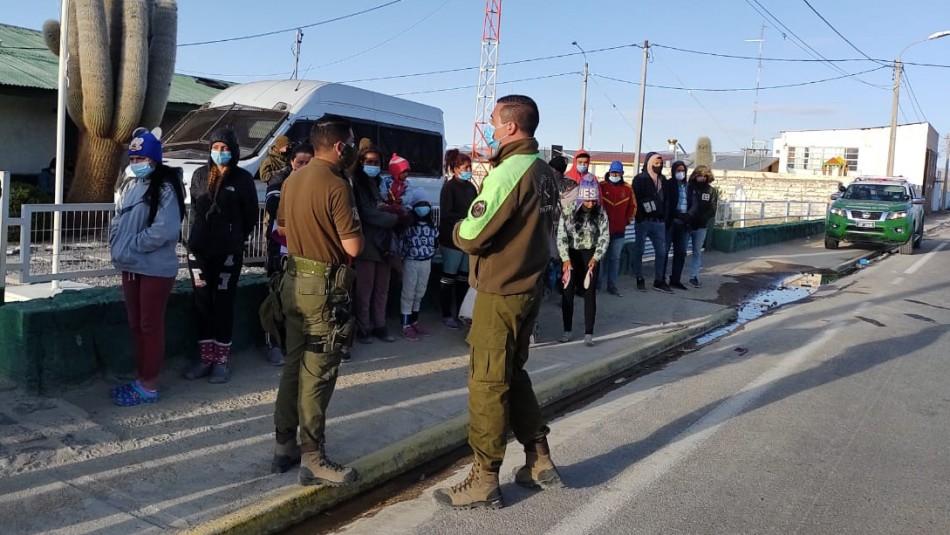 Incidentes entre migrantes y Carabineros por ingreso masivo de extranjeros en Colchane