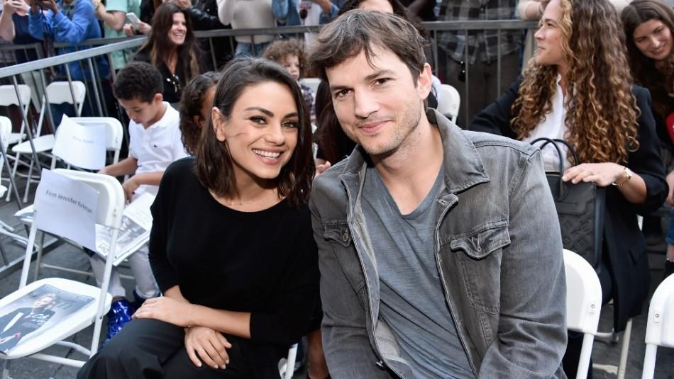 Mila Kunis y Ashton Kutcher vuelven a actuar juntos y aprovechan de