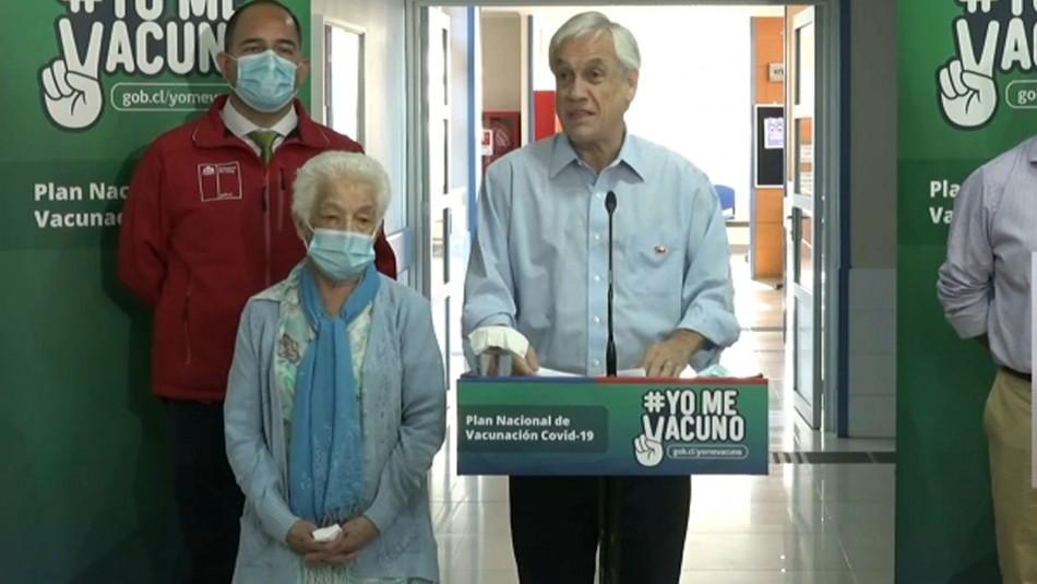 Piñera tras inicio de vacunación masiva contra coronavirus: