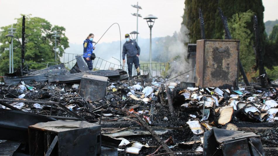 Fiscalía por incendio en Municipalidad de Panguipulli:
