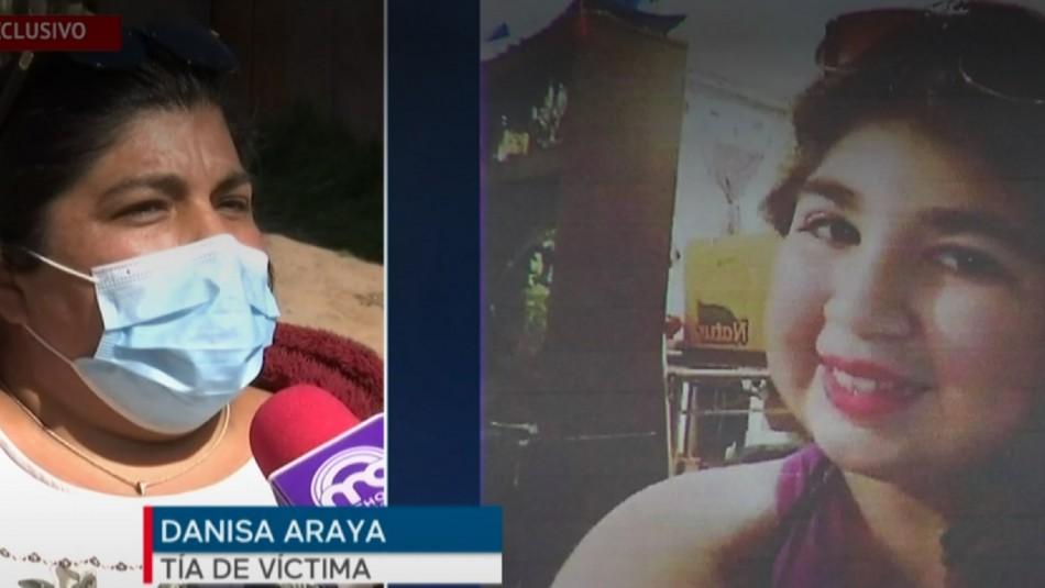 Tía apunta a caso Melissa Chávez.